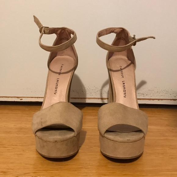 0b27f7df19 Chinese Laundry Shoes - Chinese Laundry beige Avenue Platform heels